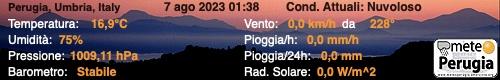 Stazione n.ro: 109 - Umbria - Perugia - Ponte Felcino, (PG)
